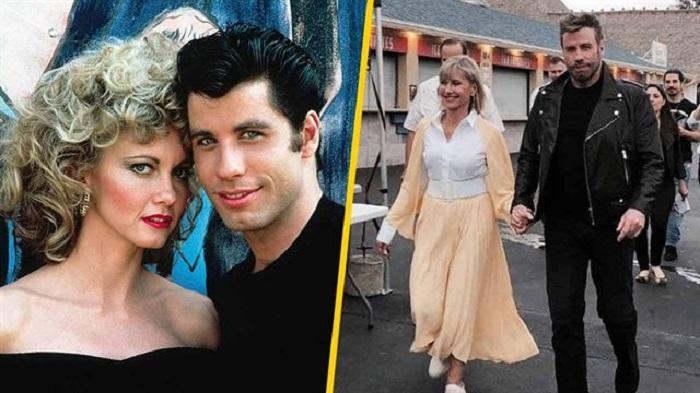 Olivia Newton y John Travolta se visten de