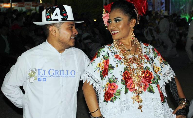 Diego Alonzo e Issey Cemé ganan el concurso de jarana, de la Feria de la Naranja