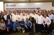 Líderes evangélicos en Yucatán, respaldan el trabajo de Mauricio Vila