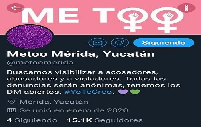 @Metoomerida denuncia casos de acoso sexual entre los yucatecos