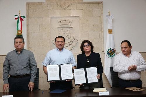 Renán Barrera y el INAIP trabajarán para crear nuevas acciones a favor de la transparencia