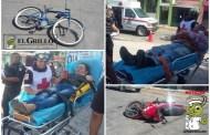 Un imprudente ciclista choca contra una motociclista y ambos se lesionan