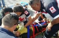 Estalla la llanta de su moto y derrapan, en la vía Motul-Telchac Pueblo: hay tres heridos