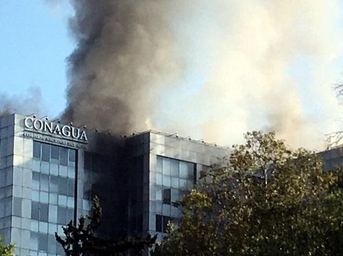 Se quema una de las oficinas de la Conagua, en la Ciudad de México: no hubo heridos