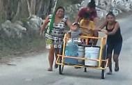 Vecinos de Homún sufren por la falta de agua potable