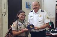 Nombran a la scout Andrea Cetina, comisaría municipal por un día