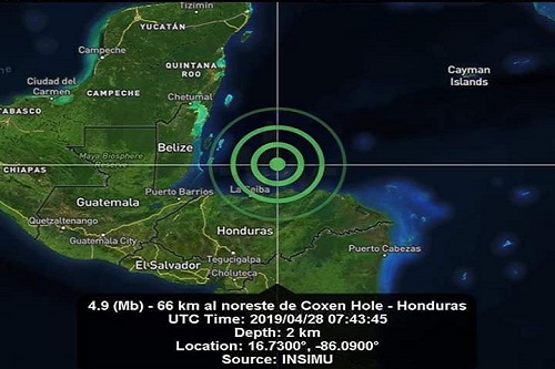 Un sismo frente a las costas de Honduras se percibe en Quintana Roo