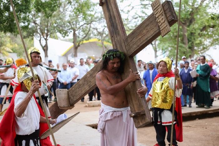 Reviven la pasión de Cristo en el Cereso de Mérida
