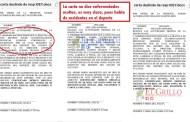 Carlos Sáenz miente, no firmen esa carta, advierten deportistas
