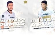 Barragán y Vigón, los nuevos refuerzos de los Pumas