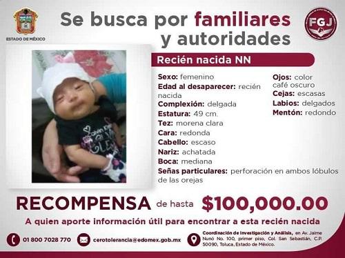Roban a una bebé en un Registro Civil del Estado de México