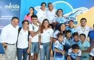 El Club Titanes impone su poderío en la piscina, en la VI Copa Municipal de Natación del Ayuntamiento de Mérida