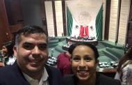 Presencia Jaguar con Laura Marrufo en un foro sobre deportes en la Cámara de Diputados