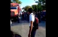 Estudiantes tabasqueños bloquean carreteras por falta de