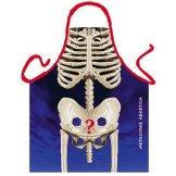 Grillschürze - Kochschürze - Skelett - Lustige Motiv Schürze als Geschenk für Grill Fans mit Humor -