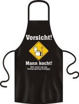 Grillschürze Original Rahmenlos ® (Vorsicht Mann Kocht) -
