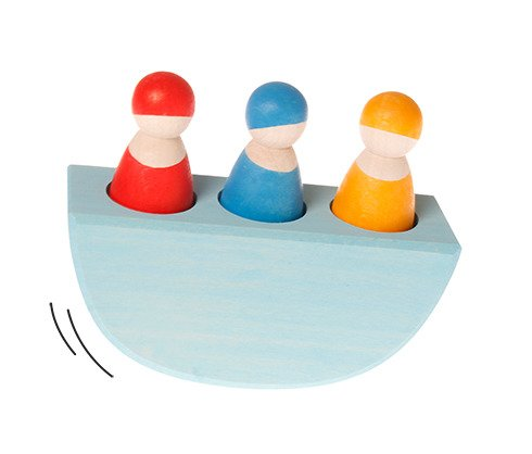 Troje Przyjaciół na łódce