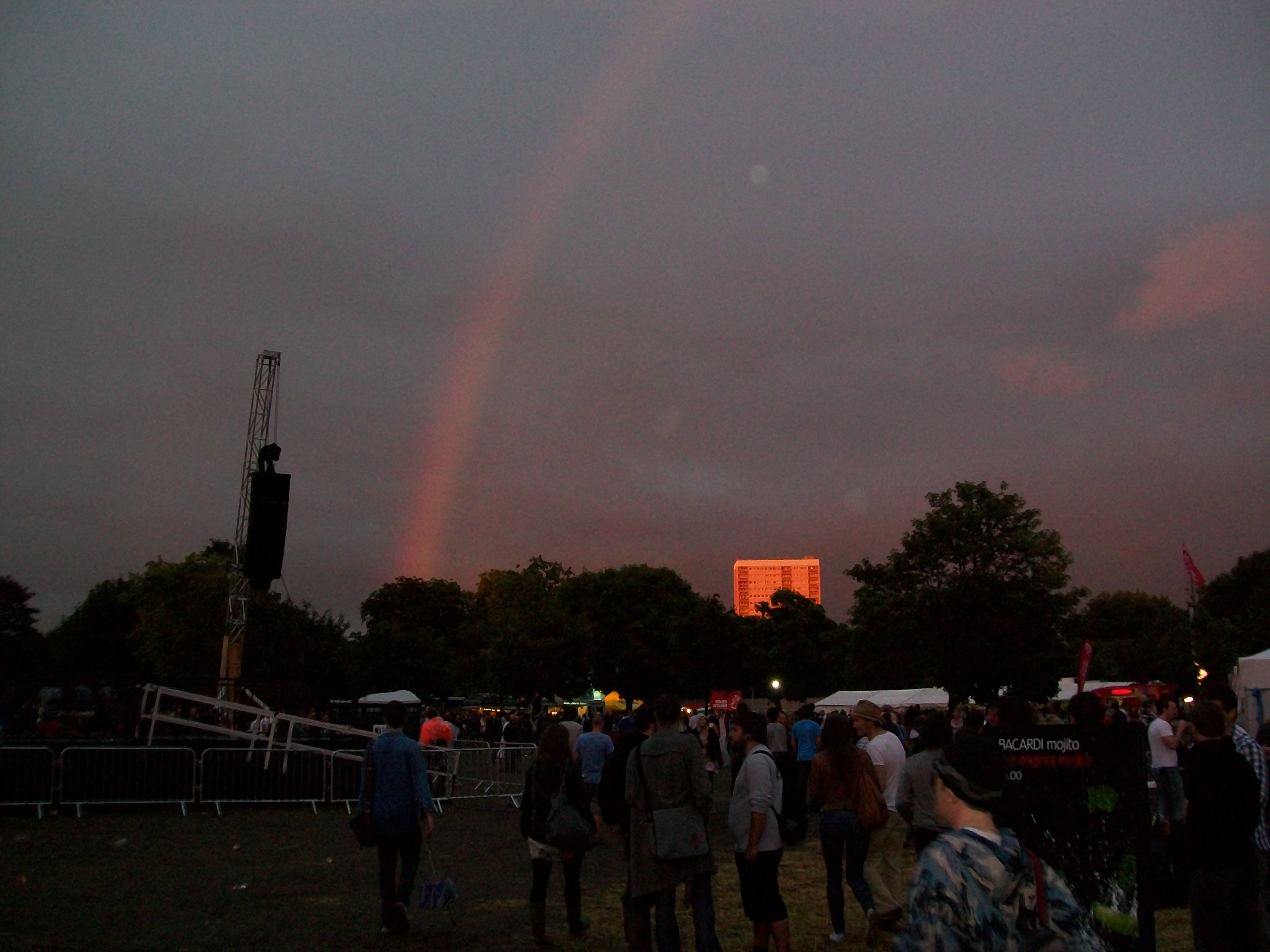 Rainbow over Bow