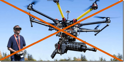 Weaponization of drones