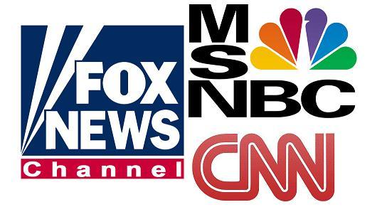 fox news, msn nbc, cnn, news,