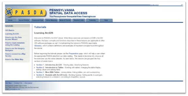 Pennsylvania Spatial Data Access (PASDA)