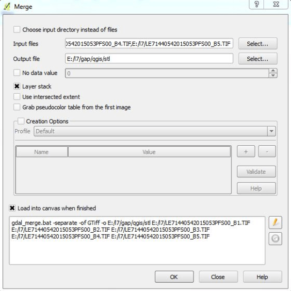 QGIS merge the file