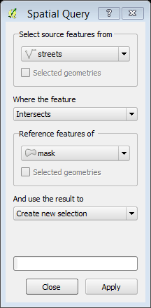 Spatial Query option