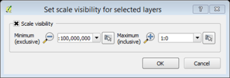 scale visibility layers
