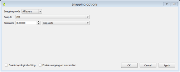 snapping option window