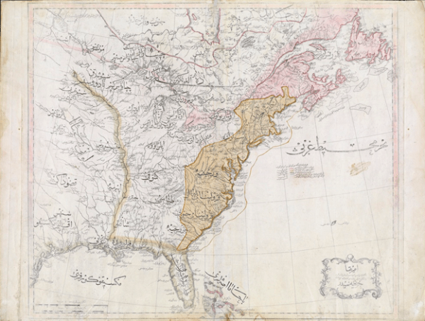 First Ottoman Map of the United States