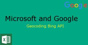 Geocoding with Microsoft Excel and Bing Maps API