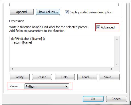 Label Expression Python option