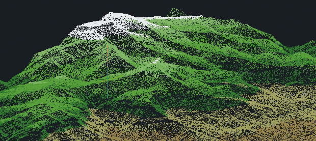 DEM 3d map