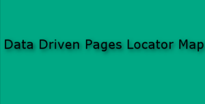 Data Driven Pages Locator Map