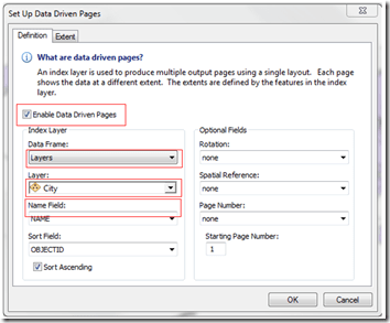 Data Driven Pages Setup 1