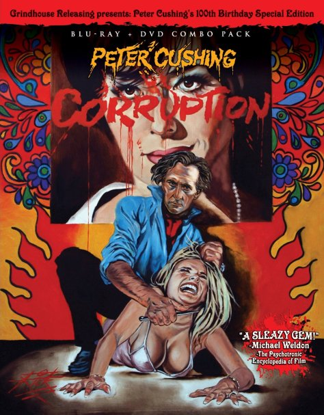 Corruption (1968) Blu-ray + DVD: starring Peter Cushing: Grindhouse Releasing