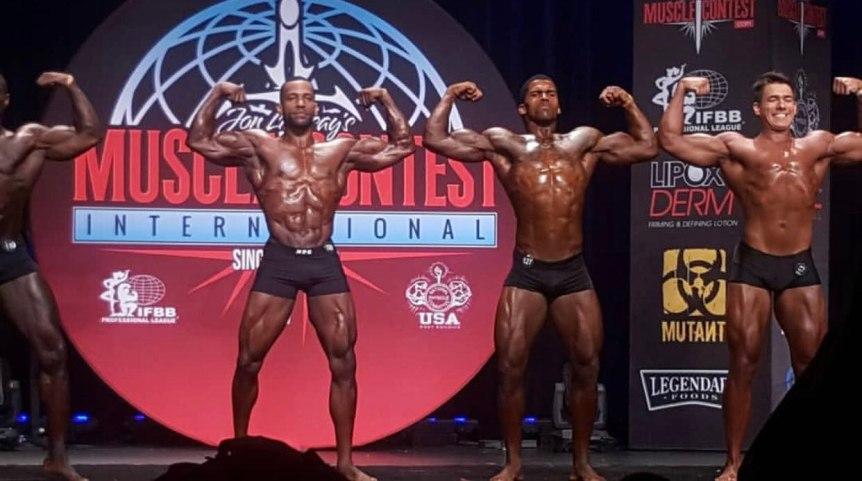 Los Angeles Championship NPC 2018 Men´s Classic Physique Rodney Crayton double biceps