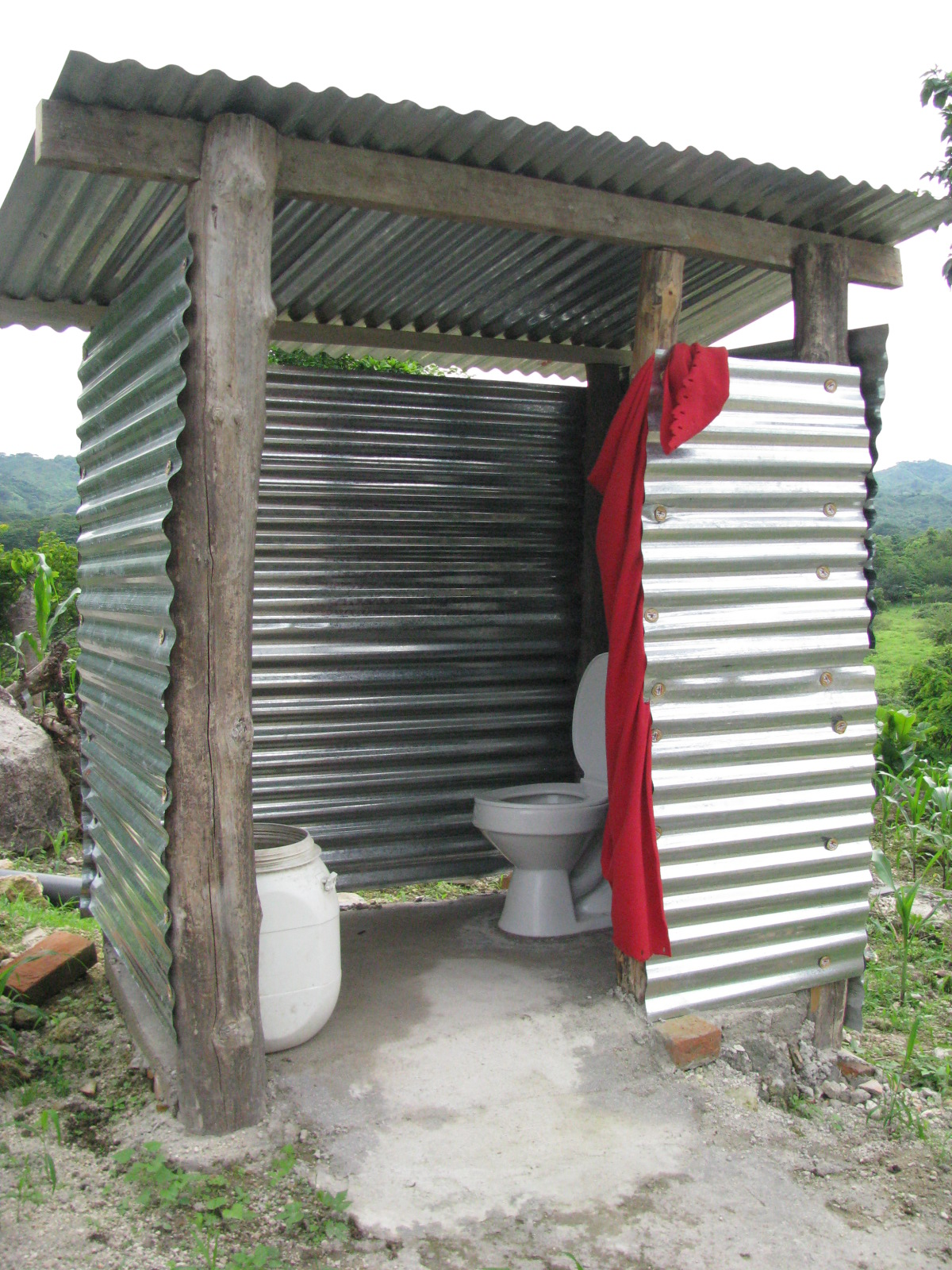 Outhouse With Flushing Toilet