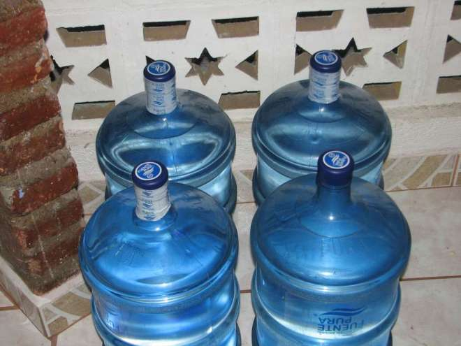 This photo of water jugs is sure to win me some sort of prestigious journalism award.