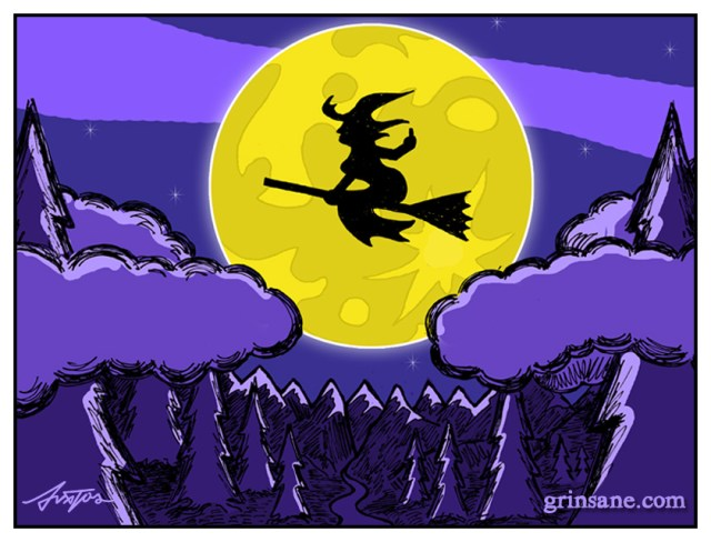 Witch Flip on a Broom