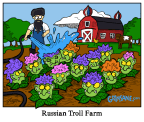 Russian Troll Farm Cartoon