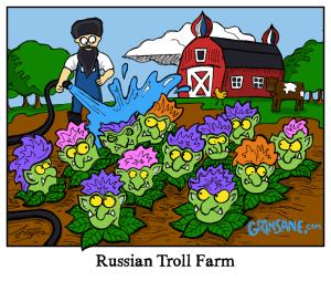 Russian Troll Farm Cartoon