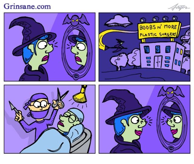Witch Nose Job Cartoon