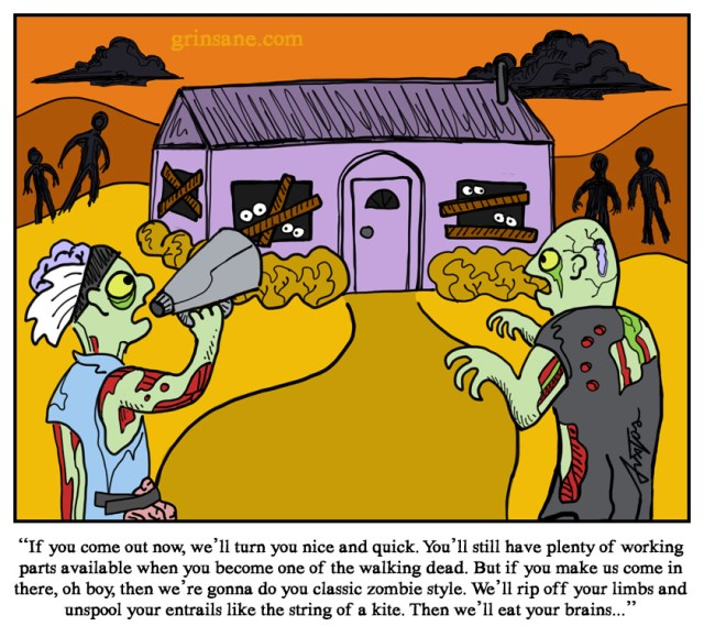 Zombie Negotiator Comic Cartoon