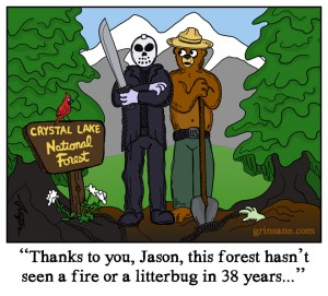 Jason Voorhees Smokey the Bear Comic Cartoon