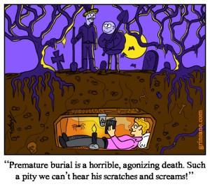Premature Burial Cartoon Comic