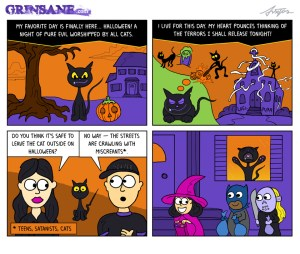 Halloween Cat Cartoon