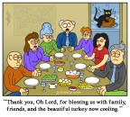 Thanksgiving cat cartoon