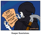Grim Reaper New Years Resolutions Cartoon