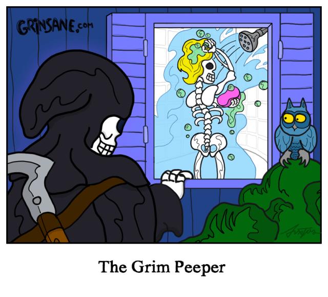 The Grim Peeper Cartoon
